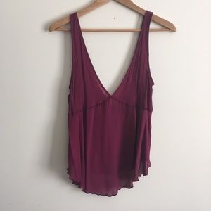 Free People | Babydoll Tank Top Purple Pink Small